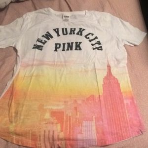 Vs pink New York City tee